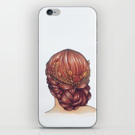 Golden Hair. iPhone Skin