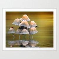 mushrooms Art Prints featuring Mushrooms by Shalisa Photography