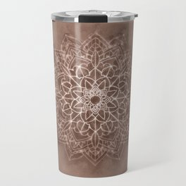 Chic Watercolor Beige Mandala Travel Mug