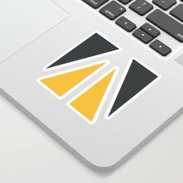 Sunny Triangles Sticker