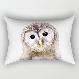 Baby Owl, Baby Animals Art Print By Synplus Rectangular Pillow