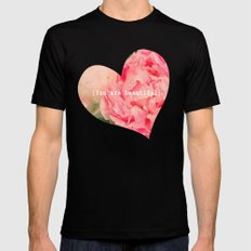 {You are beautiful} MEDIUM Black Mens Fitted Tee