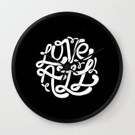 LOVE ALL Wall Clock