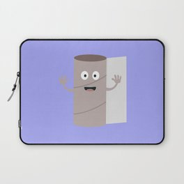 Empty Toilet paper roll with face Laptop Sleeve