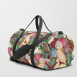 Floral and Animals pattern Duffle Bag