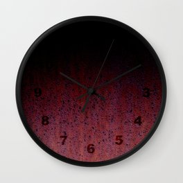 Red Brown Black Ombre Rust Metal Patina Wall Clock