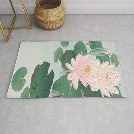 Water Lilies - Japanese vintage woodblock print Rug