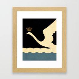 Swan Queen Minimalist art Framed Art Print