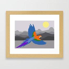 Parrot flying Framed Art Print