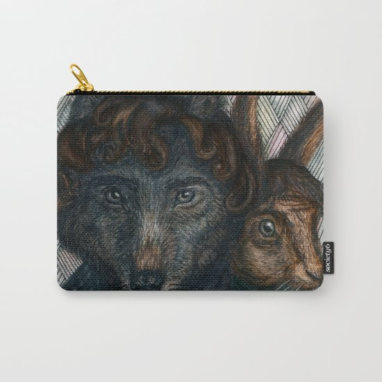 Sherlock Wolf and Dr. Rabbit Carry-All Pouch