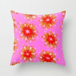 Orange Christie Rose Throw Pillow