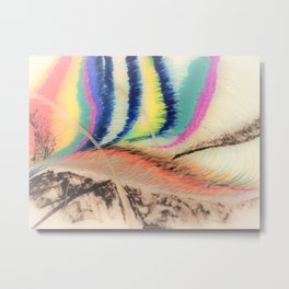 Abstract1 Oil Pastel  Metal Print
