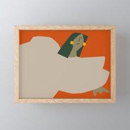 Girl in Repose Framed Mini Art Print
