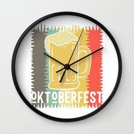 Oktoberfest beer vintage costume Wall Clock
