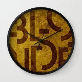 Blonde Beer Typography Wall Clock