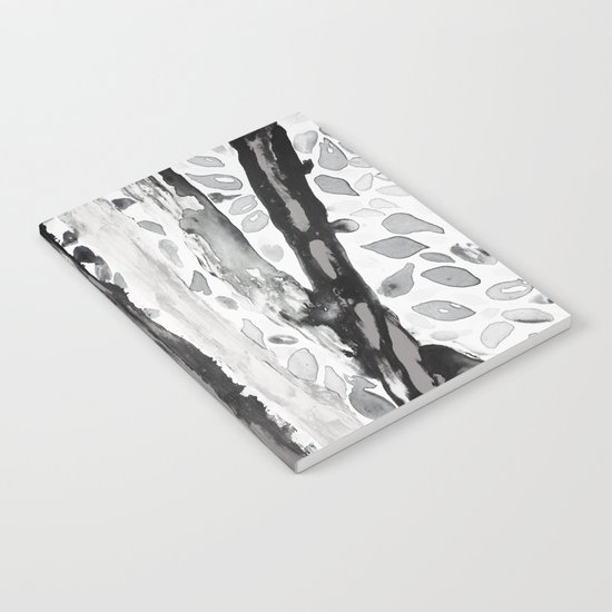 Rainbow Eucalyptus Graffiti artist tree from shedding bark South Pacific Black and White Night Notebook