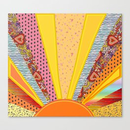 Sun Patterns Canvas Print