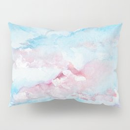 Pink and Blue Clouds . Sky Pillow Sham