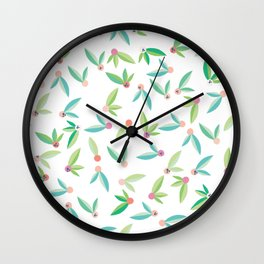 Abstract Flower pattern Wall Clock