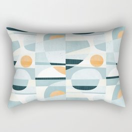 Del Mar Modern Abstract Geometric Pattern Rectangular Pillow