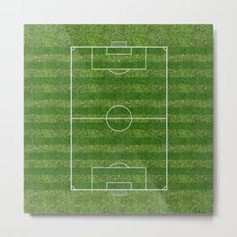 Soccer (Fooball) Field Metal Print