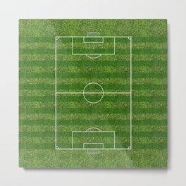 Soccer (Football) Field  on the grass Metal Print