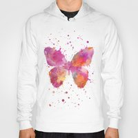 artsy Hoodies featuring Artsy Butterfly by LebensART