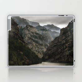Foggy mountains over Neretva gorge Laptop & iPad Skin