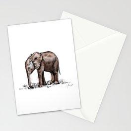 Kuishi, the orphan elephant. Stationery Cards