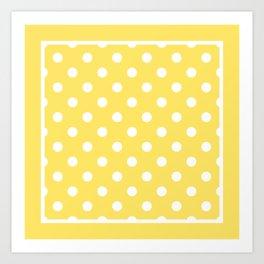 Sunshine Yellow Polka Dots Palm Beach Preppy Art Print
