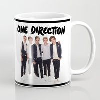one direction Mugs featuring One Direction by Marianna