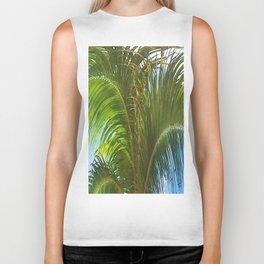 437 - Abstract Palm Tree Design Biker Tank