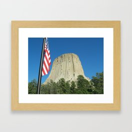 Devils Tower  Framed Art Print