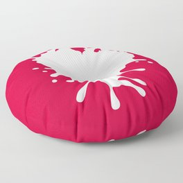 Splatter Heart Floor Pillow