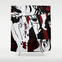 grafitti Shower Curtains featuring Grafitti Manga by Fine2art
