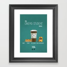 Cinema student menu Framed Art Print