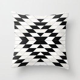 Urban Tribal Pattern No.15 - Aztec - White Concrete Throw Pillow