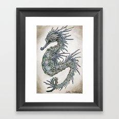 cerulean seahorse  Framed Art Print