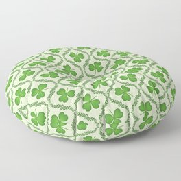 Irish Blessing Shamrocks Pattern Floor Pillow