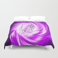 erotic Duvet Covers featuring Space and time 8  Erotic by Walter Zettl