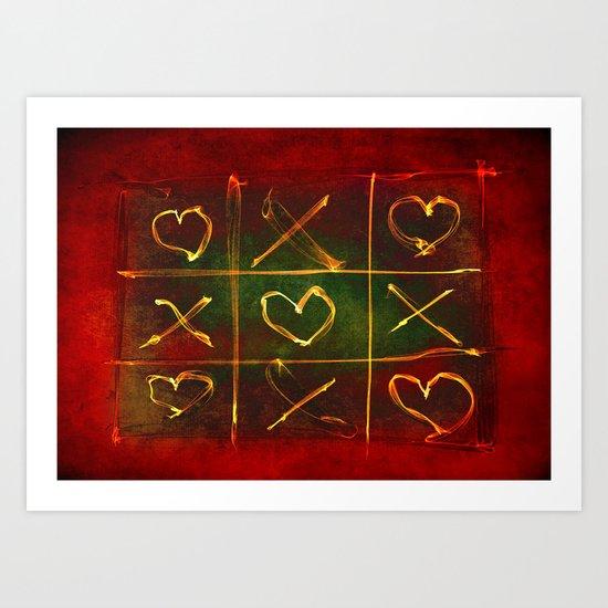 Tic Tac Love Art Print