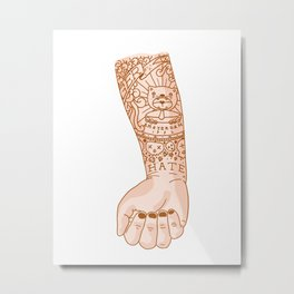 astrdm tattoo Metal Print