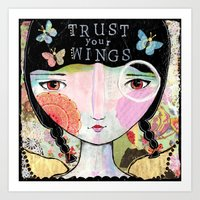 Trust Your Wings Art Print