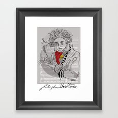 Beethoven in musica Framed Art Print
