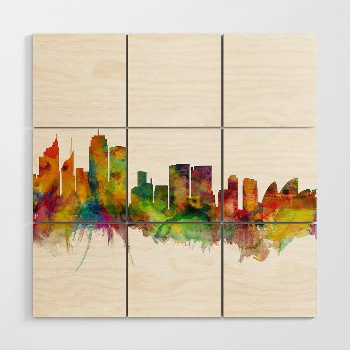 Sydney Australia Skyline Wood Wall Art By Artpause