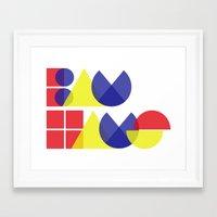 bauhaus Framed Art Prints featuring Bauhaus by Romivavi