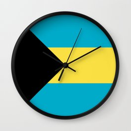 Flag: The Bahamas Wall Clock