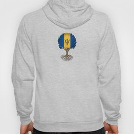 Vintage Tree of Life with Flag of Barbados Hoody