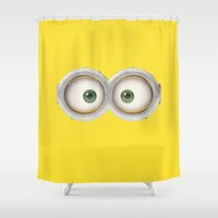 minions Shower Curtains featuring Banana! by MrWhite