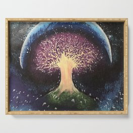 Cosmic Tree of Life Painting Serving Tray